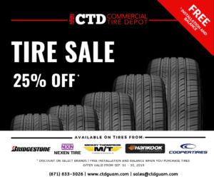Tire Sale 25% Off